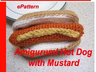 Free Crochet Hot Dog Pattern : amigurumi hot dog Crochet Pinterest