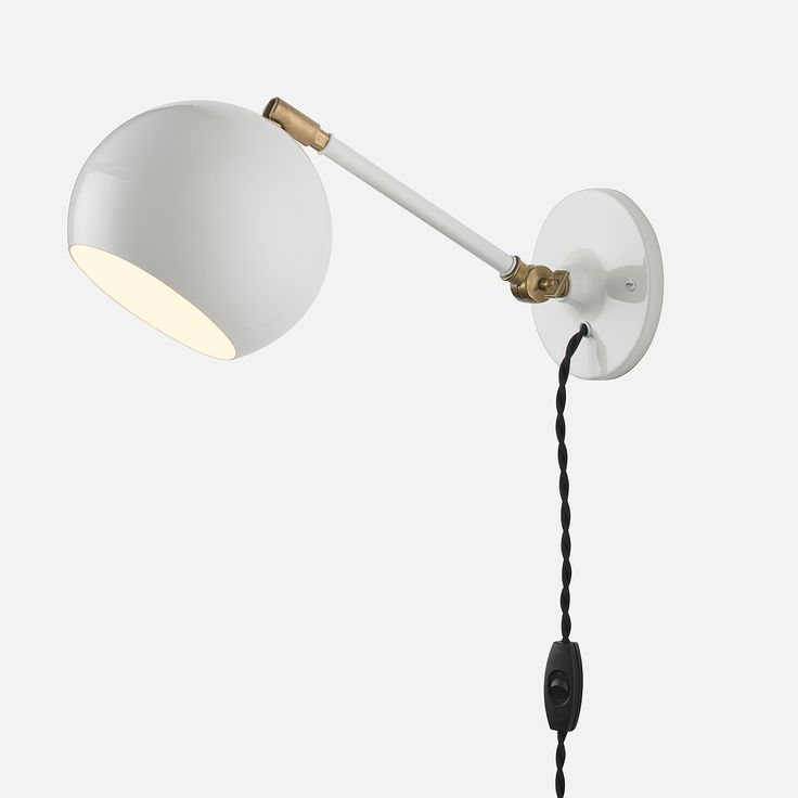 isaac plug in sconce white long arm lighting pinterest