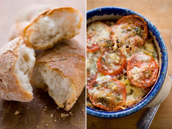 Savory Bread Pudding with Tomatoes and Herbs | Recipe