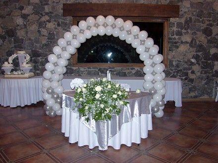 Arco para boda arcos adornados con globos pinterest - Arreglos con globos para boda ...