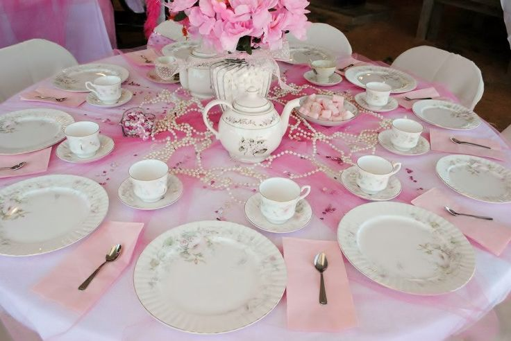 Princess tea party table setting whimsical pinterest for Party table setting