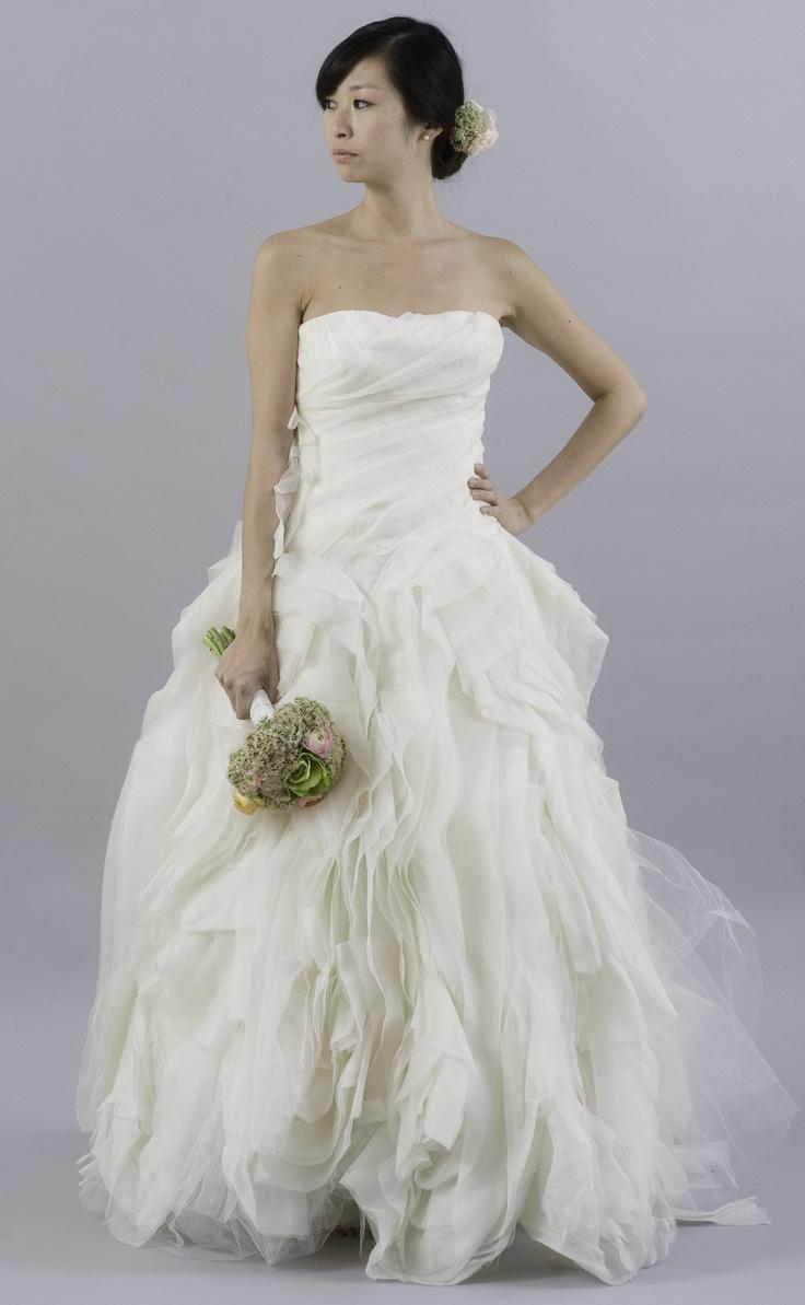 Vera wang diana organza dress planning a wedding for Vera wang diana wedding dress