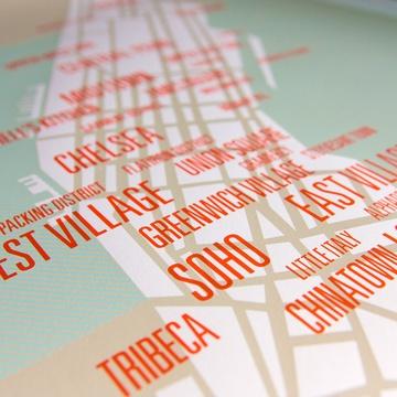 Manhattan Map #silkscreen #map #manhattan #NYC