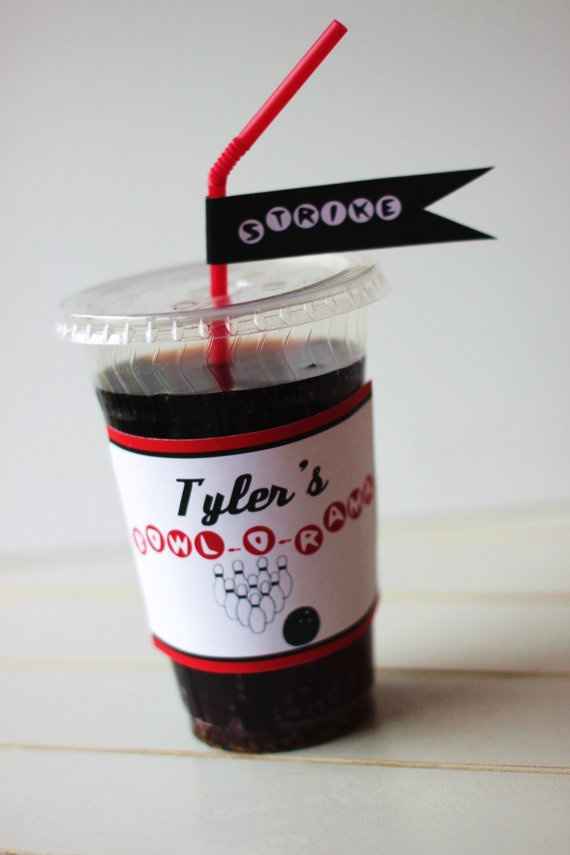 print-it-yourself... straw flags and personalized cup wrappers