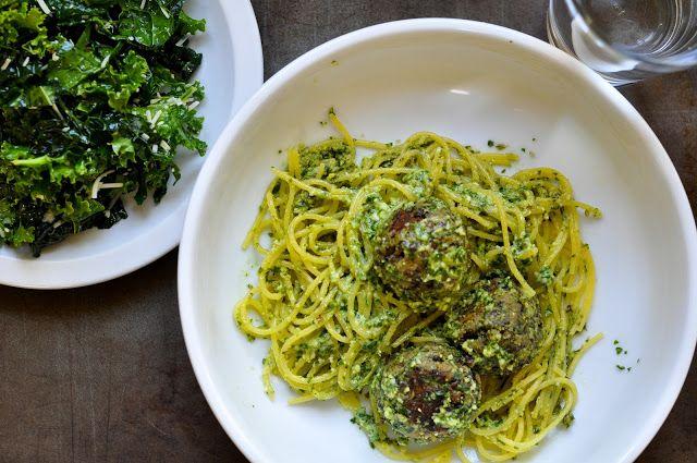 "lentil ""meatballs"" with lemon pesto | The occasional vegetarian ..."