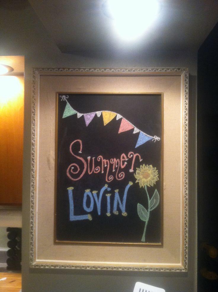 Summer Chalkboard Craft Ideas Pinterest