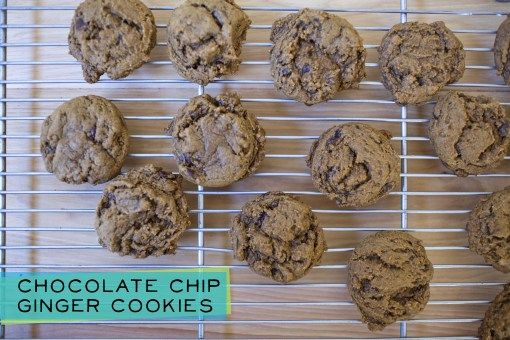 chocolate chip ginger cookies | Eat! | Pinterest