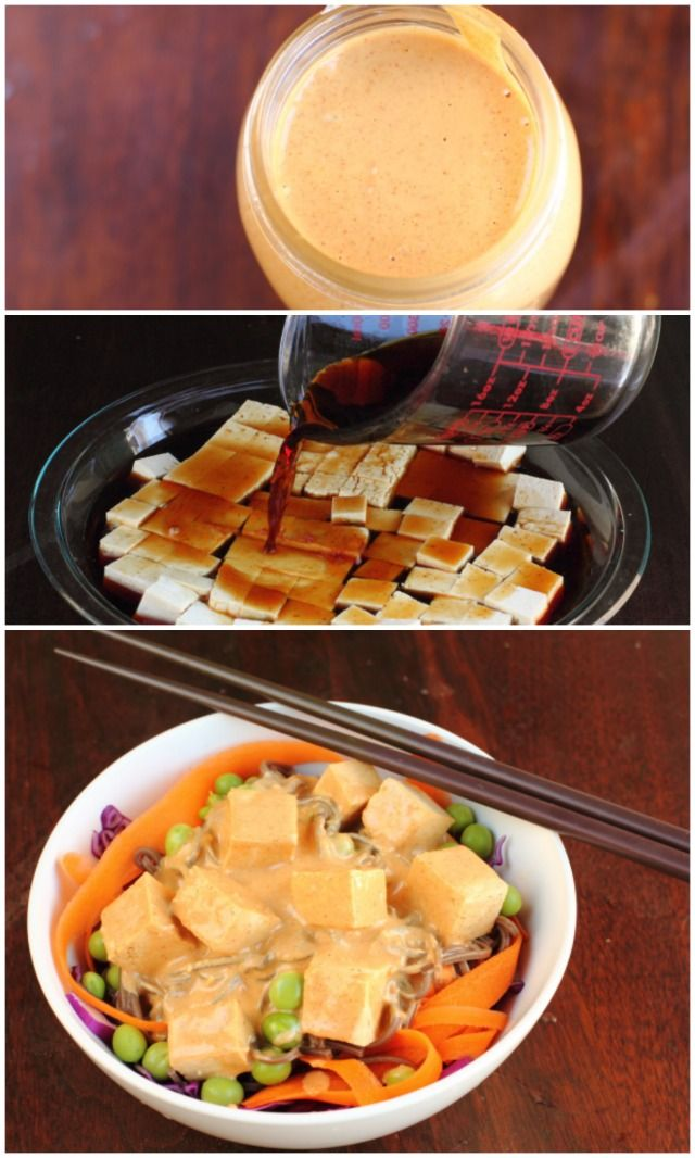 Soba Noodle Bowl with Marinated Tofu and Peanut Sauce | Je suis ...