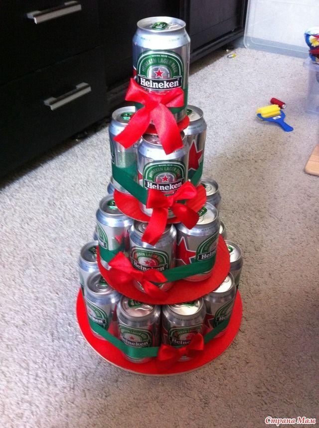 Фото торт из банок пива своими руками фото 494