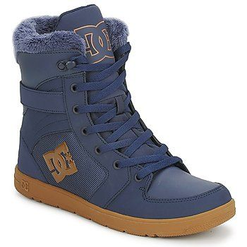 Hi Top Trainers 'Stratton Navy' by DC Shoes - My Lovely Big Feet Blog