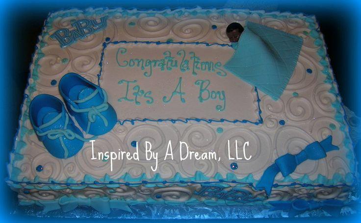 Baby shower for boy sheet cake go back bakery pinterest