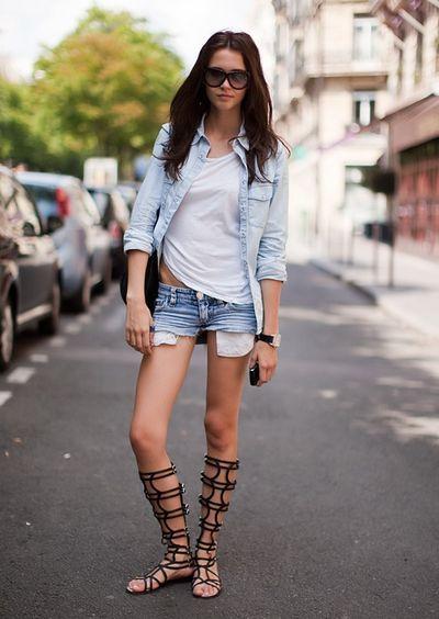 casual denim combo + white tshirt