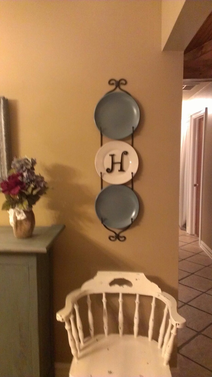 Put your inital on your plates!   For My Home.....   Pinterest
