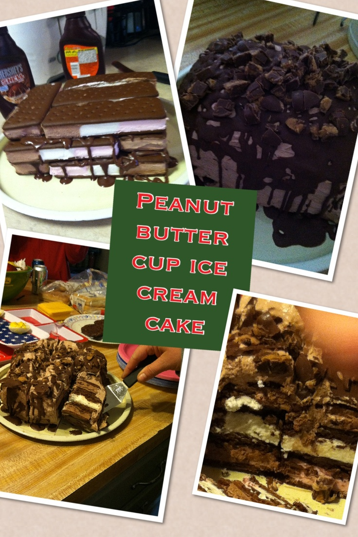 ... peanut butter magic shell choc. Whip topping icing and cup up Reese