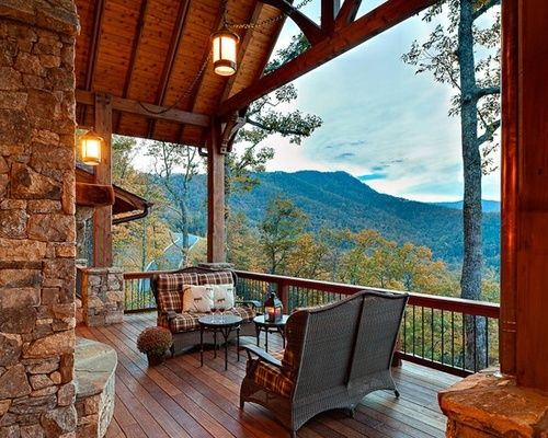 Porch Deck With A Mountain View Homes Home Decor And