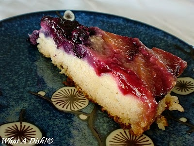 Plum-Blueberry Upside Down Cake | prunes and Plum Recipes | Pinterest