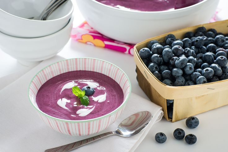 Chilled Blueberry Soup. Get the recipe in the free #ThinkPink recipe ...
