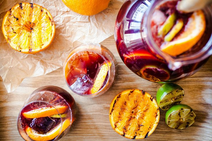 Summer Sangria, with grilled citrus.
