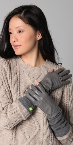 Juicy Couture TXT Me Leather Gloves - StyleSays