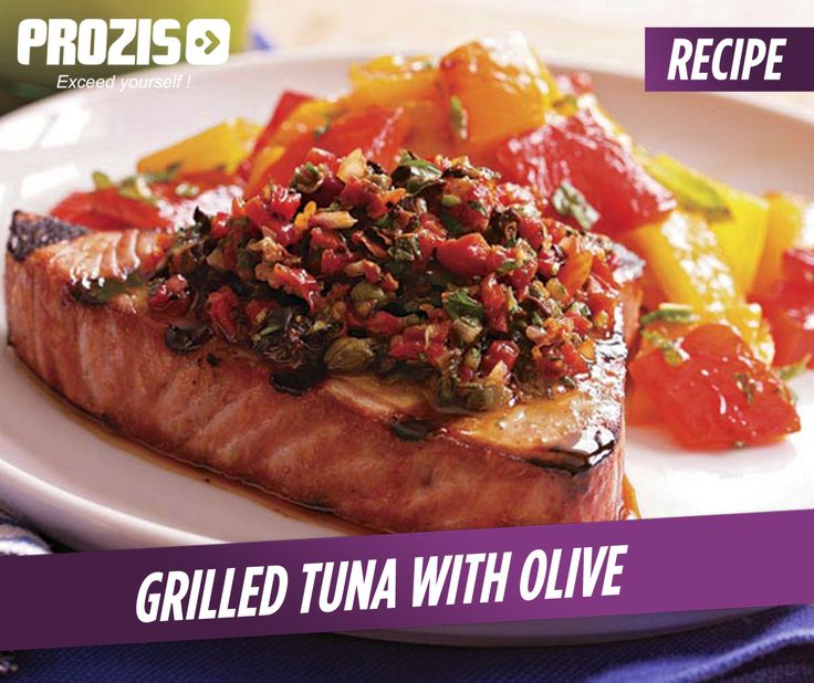 ... Grilled Tuna with #Olive Relish A simple relish of parsley and olives