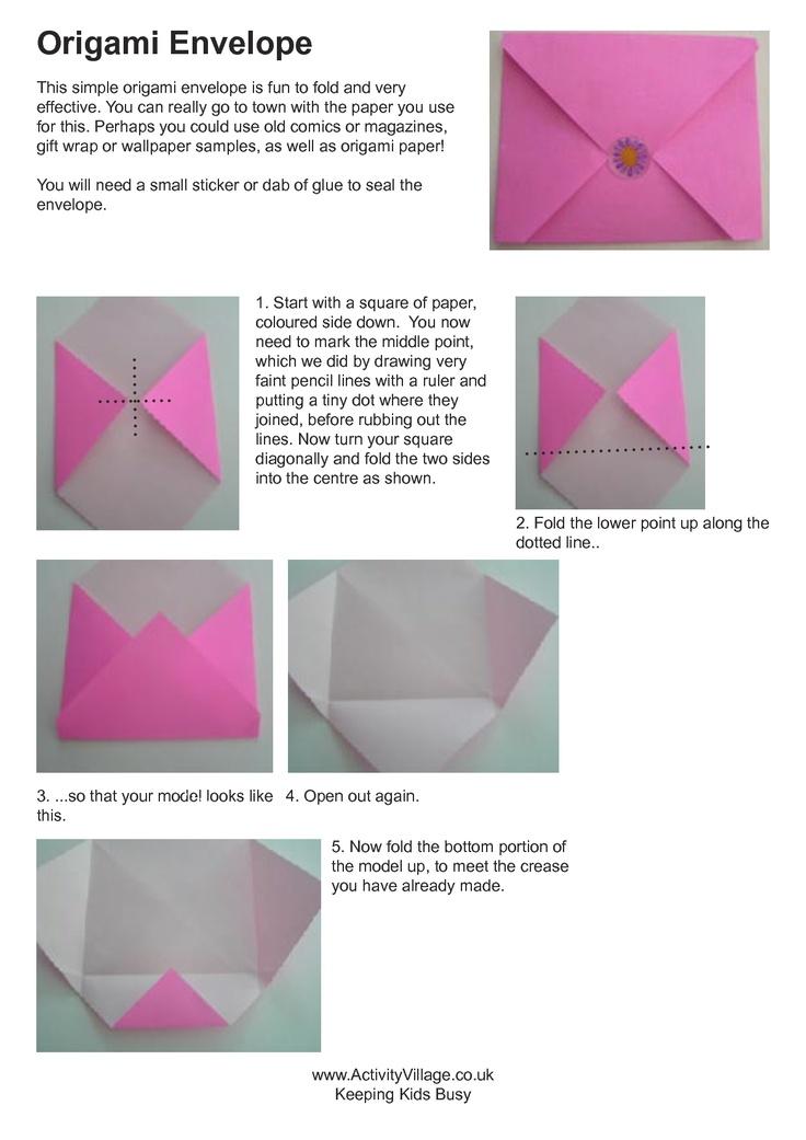 Fold An Envelope Fun Craft Ideas Pinterest