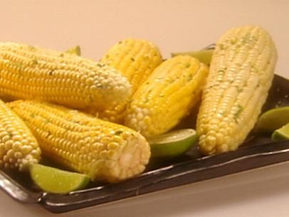 Roasted Corn on the Cob with Cilantro Lime Butter | Recipe