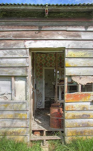 Door Open To Old Farm House | Windows & Doorways