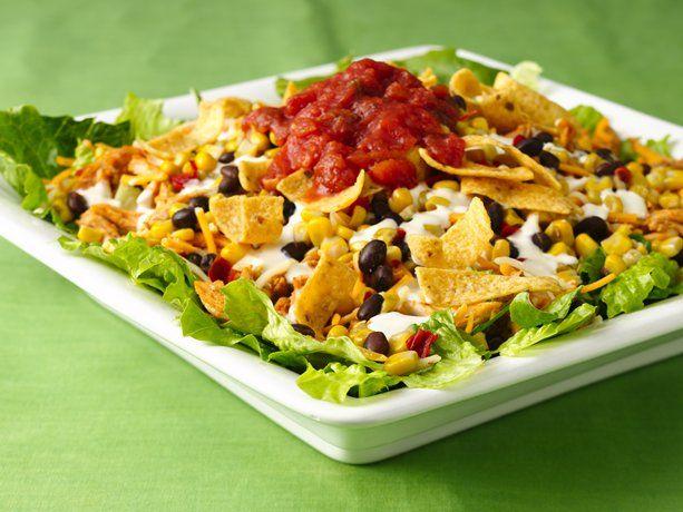 Southwestern Chicken Layered Salad