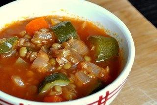 Provencal lentil zucchini soup | Carbs and Soups | Pinterest