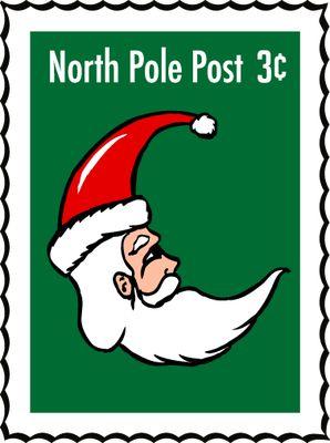 NORTH POLE SANTA STAMP CLIP ART | CLIP ART - CHRISTMAS 1 - CLIPART ...