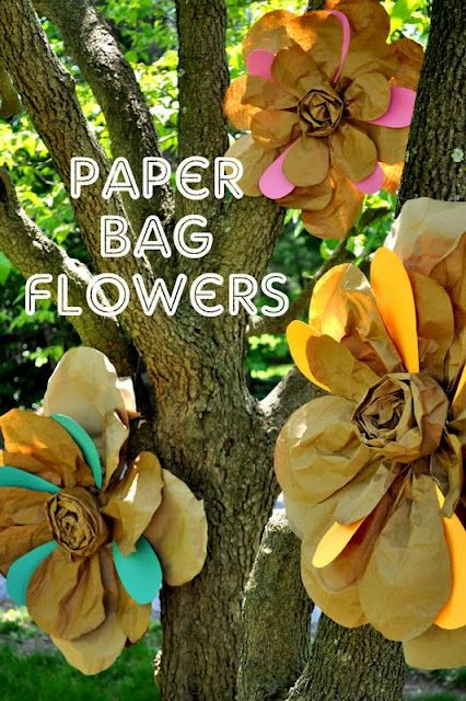 Paper bag flowers. Full tutorial via Shannanigans
