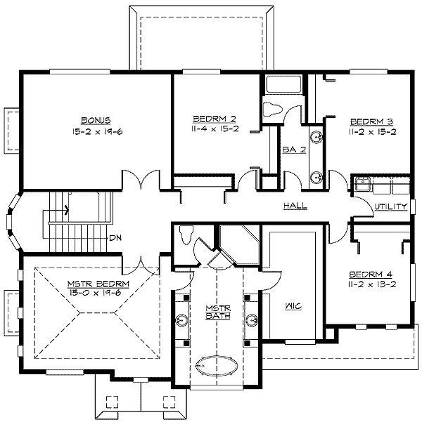 Plan w2369jd 4 car tandem garage floor plans 1 pinterest for 4 car tandem garage house plans