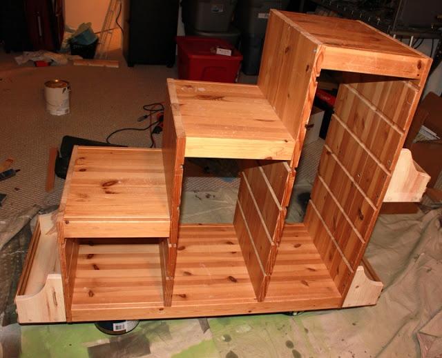 Ikea Malm Bett Niedrig Schwarz ~ Ikea Trofast storage unit w added bookshelves
