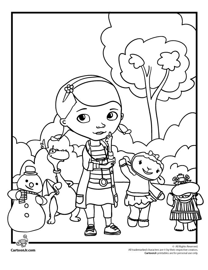 Clever image with doc mcstuffins printable coloring pages
