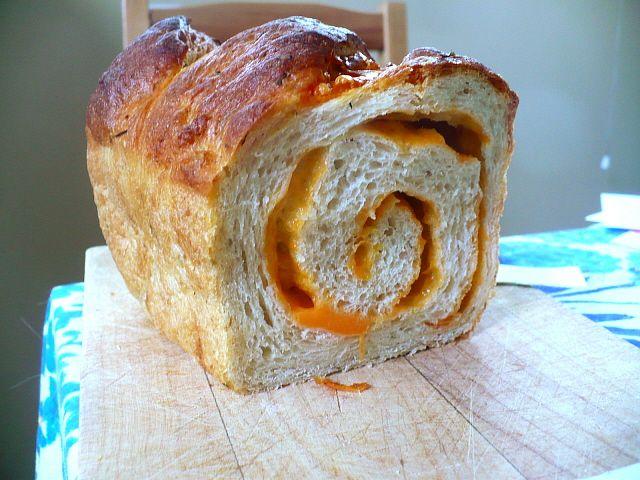 cheese swirl cheddar bread | Food | Pinterest