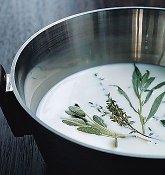 Five Herb Ice Milk: Tried without an ice cream maker. Interesting ...