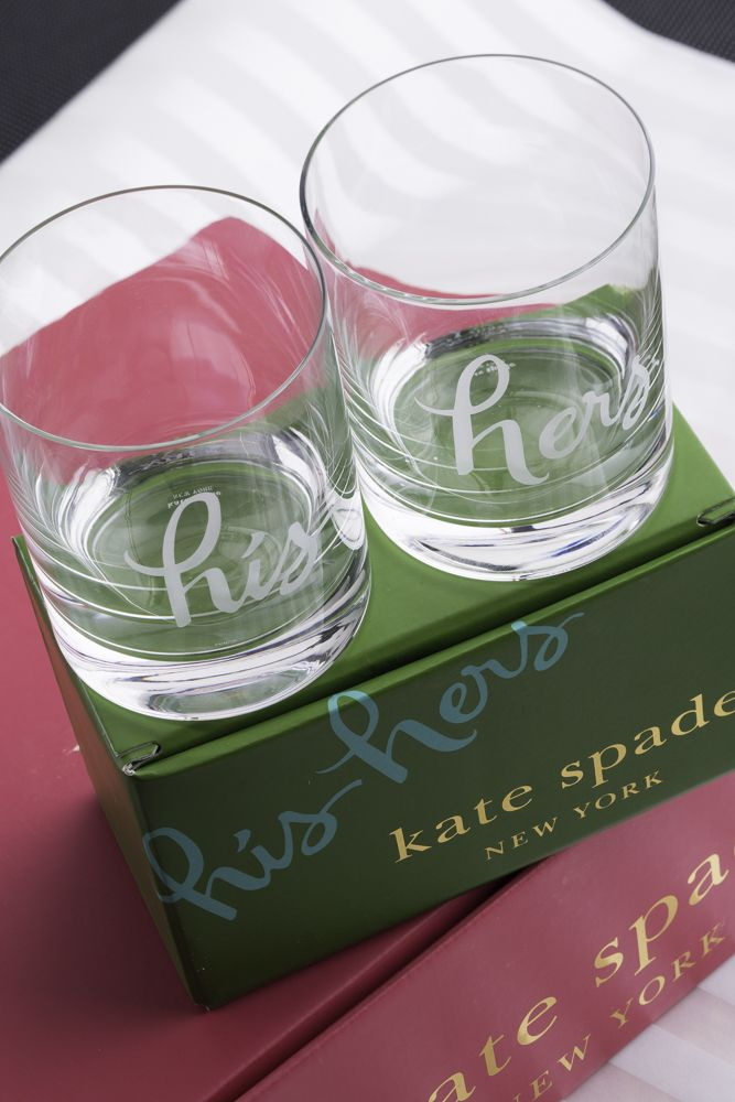 His And Her Wedding Shower Gifts : kate spade new york his and hers glasses as a bridal shower gift