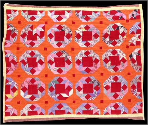 Sally Epps  Turkey Tracks Quilt, 1935–1940; seen on A Piece of My Soul: Quilts by Black Arkansans