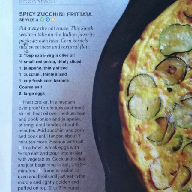 Spicy corn zucchini frittata | Hungry caterpillar | Pinterest