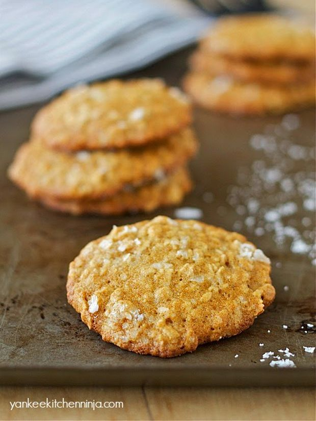 Salted Cardamom Oatmeal Cookies Recipe - RecipeChart.com
