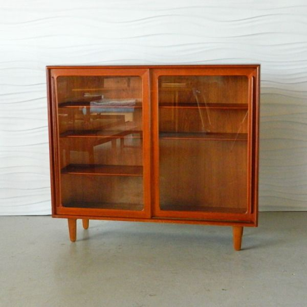 teak glass enclosed bookcase i want in my house