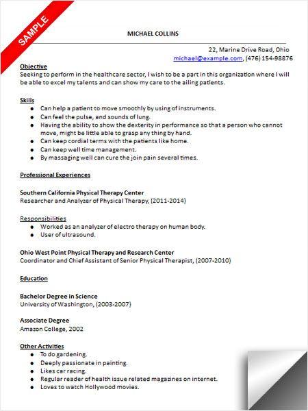 pta resume examples