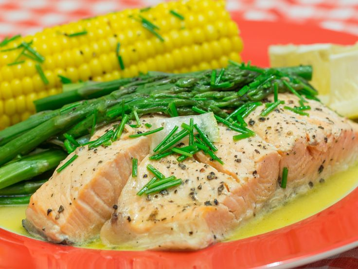 Salmon With Asparagus and Chive Butter Sauce | Recipe