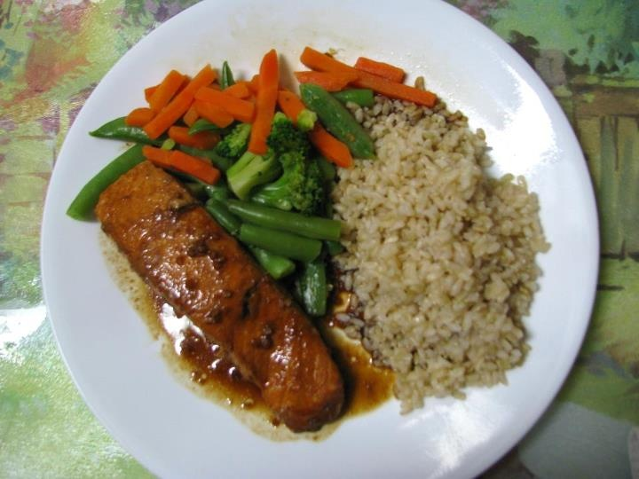 Paula Miffy - Steamed salmon marinated in soy, ginger and garlic with ...