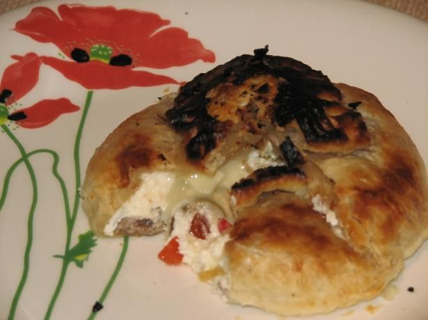 Brie En Croute Stuffed With Olives & Roasted Peppers | Recipe