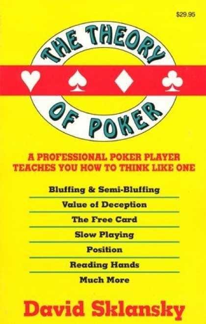 The theory of poker david sklansky books i ve read pinterest