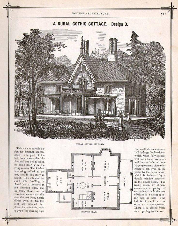 Rural gothic cottage architecture pinterest for Gothic cottage plans