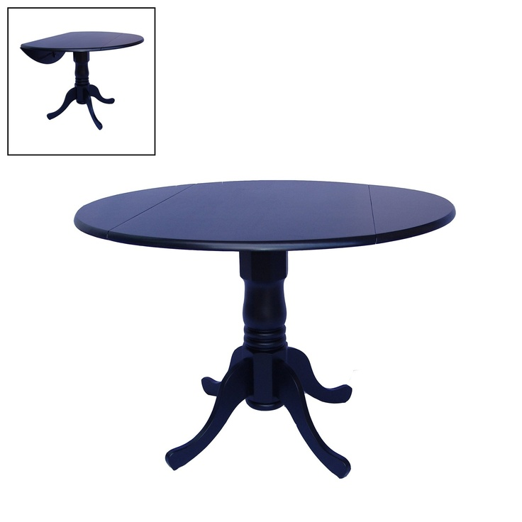 International Concepts Round Dual Drop Leaf Pedestal Dining Table