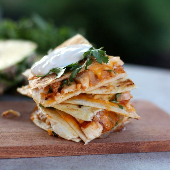 BBQ Chicken Pineapple Quesadilla | Chicken Recipes | Pinterest