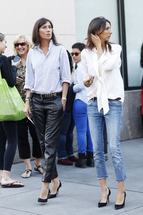 Love the kitten heeled black pumps with skinny ankle jeans.  THE FRENCH WAY- Vogue Editors | Mark D. Sikes: Chic People, Glamorous Places, Stylish Things